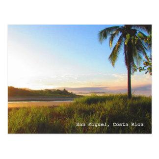 Postal tropical de la playa de Costa Rica San