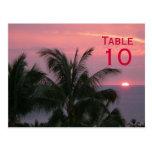 Postal tropical del número de la tabla