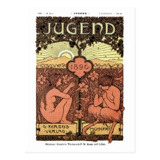 Postal: Tubos de la cacerola - revista de Jugend Tarjetas Postales