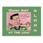 Postal turística del arte del Haiku de Hawaii de l