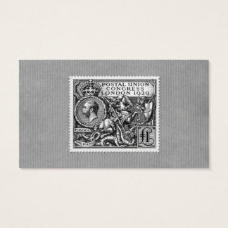 Postal Union Congress 1929 1 Pound Postage Stamp Business Card
