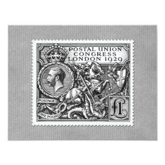 Postal Union Congress 1929 1 Pound Postage Stamp Card