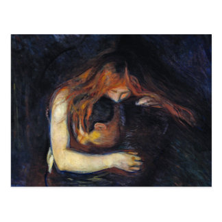 Postal: Vampiro de Edvard Munch