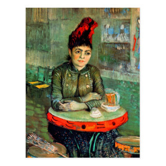 Postal: Van Gogh - mujer en café