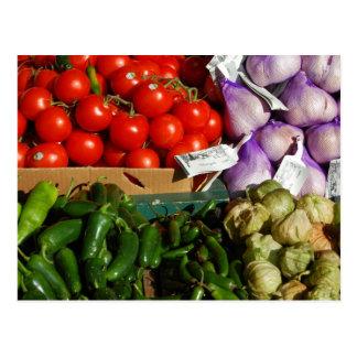 Postal vegetal de la parada del mercado