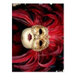 Postal veneciana de la máscara