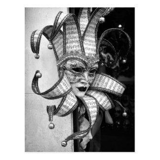 Postal veneciana de la máscara de Carnevale