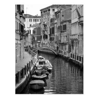 Postal veneciana del canal