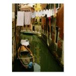 Postal veneciana del canal del lavadero