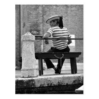Postal veneciana del gondolero