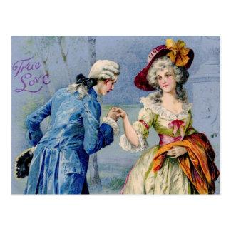 Postal verdadera francesa antigua de la tarjeta de
