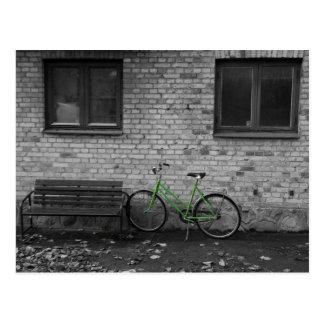 Postal verde de la bici