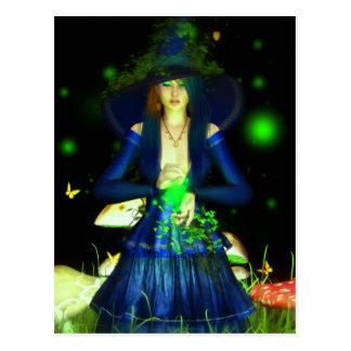 Postal verde de Magick
