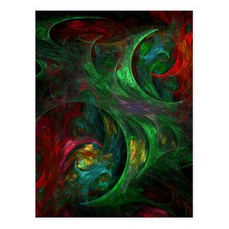 Postal verde del arte abstracto de la génesis