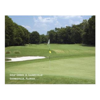 Postal verde del golf