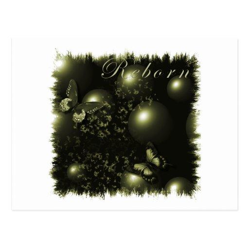 Postal verde del navidad renacido