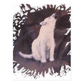 """Postal vertical del """"grito White Wolf"""""""