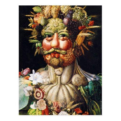 Postal: Vertumnus (retrato de Rudolf II) Tarjetas Postales