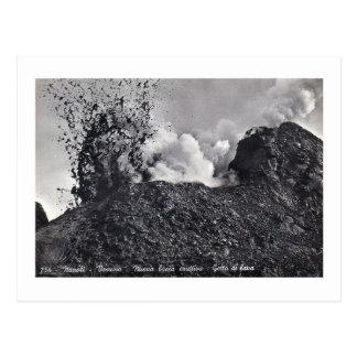 Postal, Vesuvio que entra en erupción