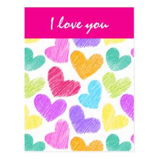 Postal vibrante del el día de San Valentín de los
