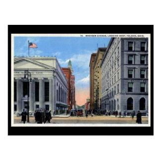 Postal vieja - avenida de Madison, Toledo, Ohio