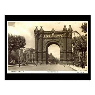 Postal vieja, Barcelona, Arco de Triunfo