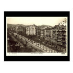 Postal vieja, Barcelona, Paseo de Gracia