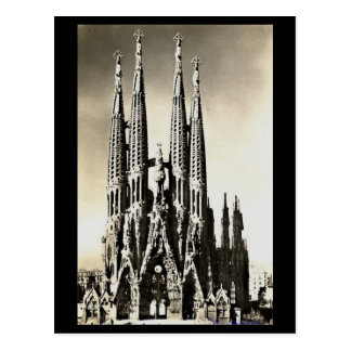 Postal vieja - Barcelona, Sagrada Familia