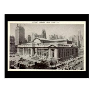 Postal vieja, biblioteca pública, New York City