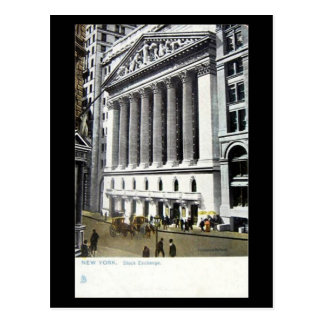 Postal vieja - bolsa de acción, New York City