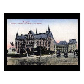 Postal vieja - Budapest el parlamento 1913