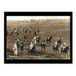 Postal vieja - caballos de carreras en Newmarket