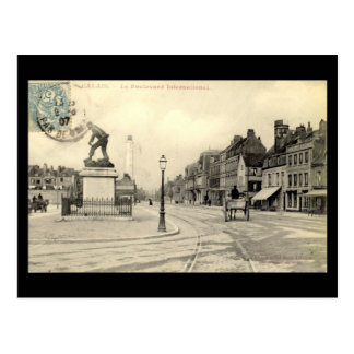 Postal vieja - Calais, International del bulevar,