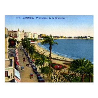 Postal vieja - Cannes, La Croisette