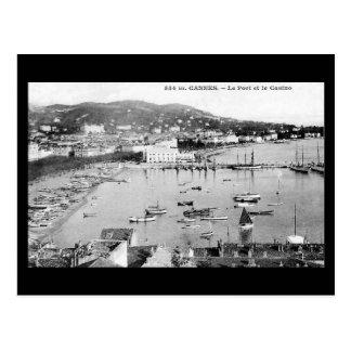Postal vieja - Cannes, puerto y casino