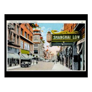 Postal vieja - Chinatown San Francisco