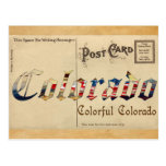 Postal vieja de Colorado de la apariencia vintage