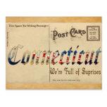 Postal vieja de Connecticut de la apariencia vinta