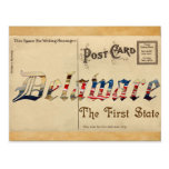 Postal vieja de Delaware de la apariencia vintage