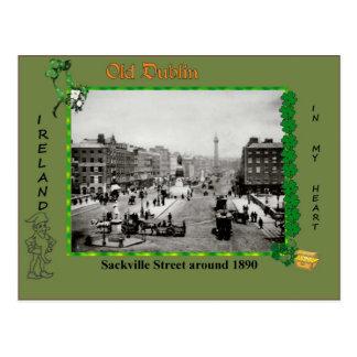 Postal vieja de Dublín del vintage