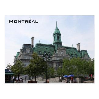 Postal vieja de la ciudad de Montreal