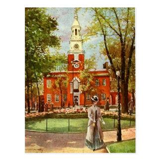 Postal vieja de la ciudad de Philadelphia