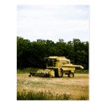 Postal vieja de la cosechadora 02