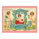 Postal vieja de la tarjeta del día de San Valentín
