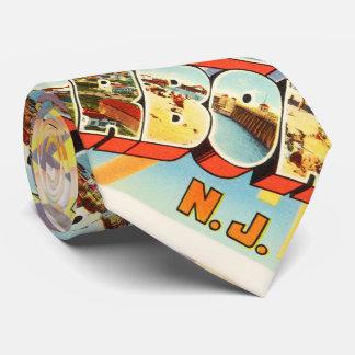 Postal vieja de piedra del vintage de New Jersey Corbatas Personalizadas