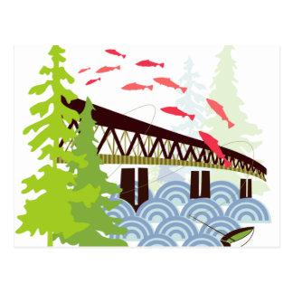 Postal vieja de Portland del puente de Sellwood