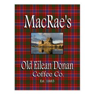 Postal vieja del Co. del café de Eilean Donan de M