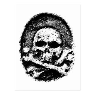 Postal vieja del cráneo