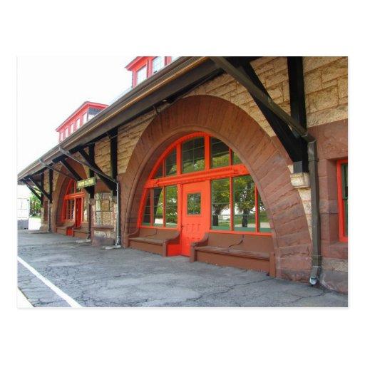 Postal vieja del ~ de la estación de tren