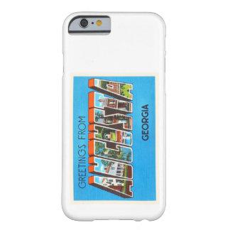 Postal vieja del viaje del vintage de Augusta Funda Barely There iPhone 6